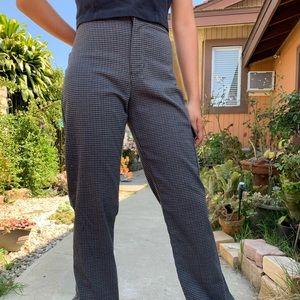 Plaid high waisted jeans